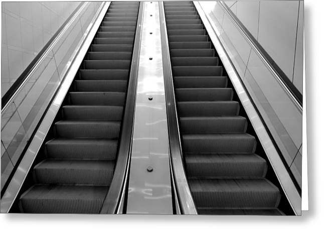 Accelerate Greeting Cards - The Escalator Greeting Card by Bob Mintie