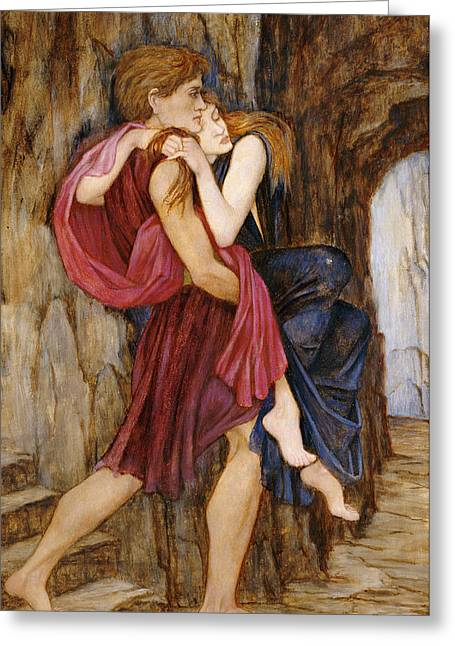 Neo Greeting Cards - The Escape Greeting Card by John Roddam Spencer Stanhope
