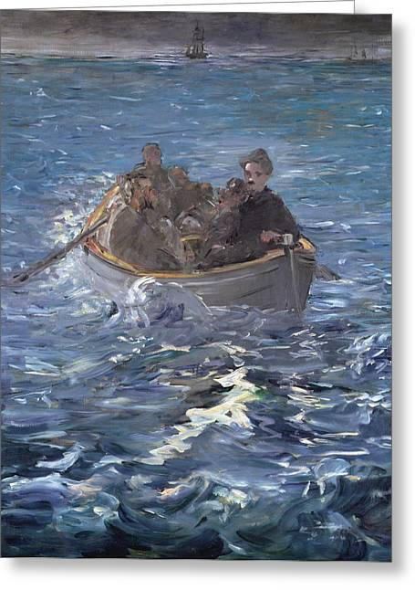 Fugitive Greeting Cards - The Escape of Henri de Rochefort Greeting Card by Edouard Manet