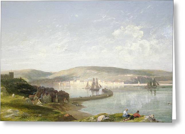Yachting Greeting Cards - The Estuary Greeting Card by James Francis Danby