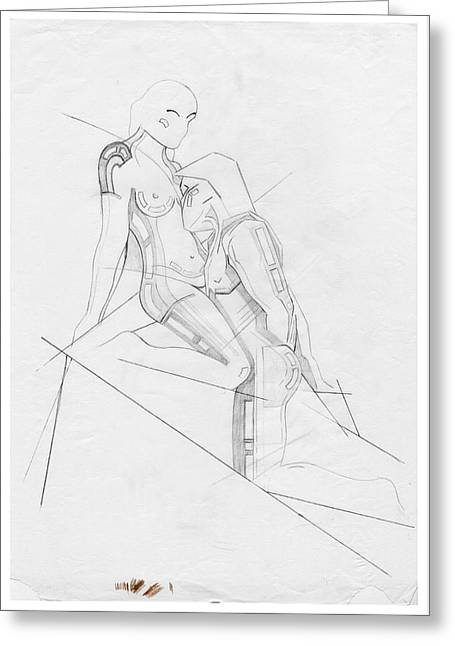 Erotic Sculptures Greeting Cards - The Eternal Idol - Homage Rodin Greeting Card by David Hargreaves