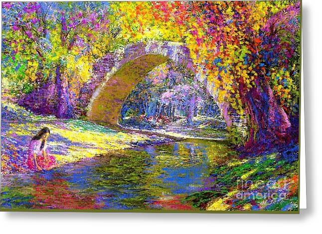 Stone Bridge Greeting Cards - The Eternal Now Greeting Card by Jane Small