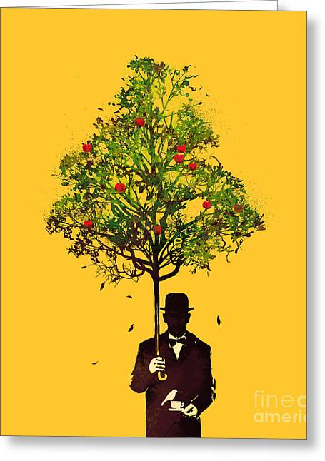 Surreal Trees Greeting Cards - The ethical gentleman Greeting Card by Budi Kwan
