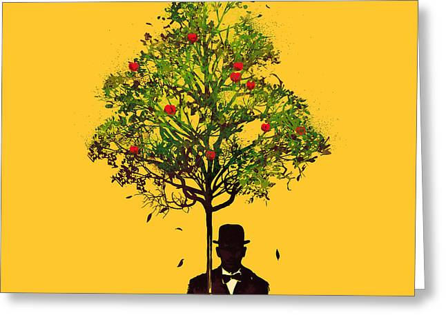 Surrealism Greeting Cards - The ethical gentleman Greeting Card by Nava Seas