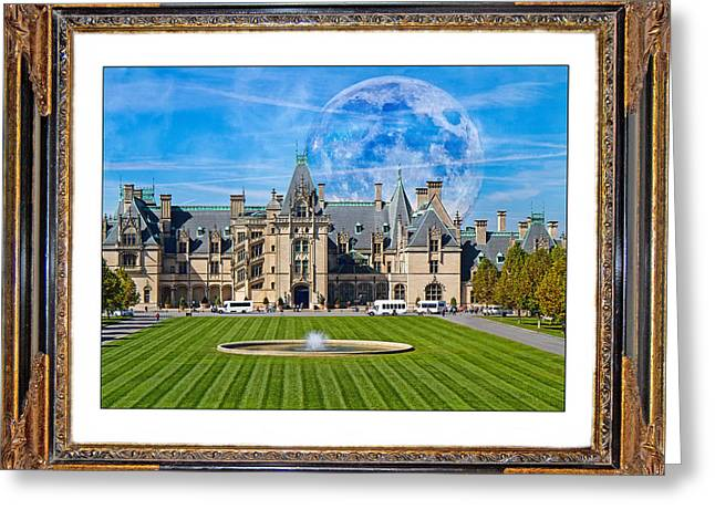 Nc Estate Greeting Cards - The Evening Begins at Biltmore Greeting Card by Betsy A  Cutler
