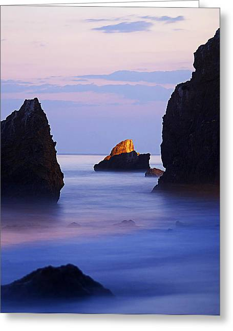 The Evening Calm Greeting Card by Ron Regalado