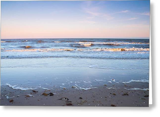 The Evening Colors Of The Ocean Greeting Card by Ellie Teramoto