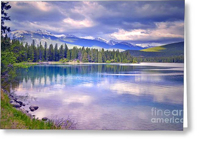 Alberta Landscape Greeting Cards - The Evening Light Greeting Card by Tara Turner