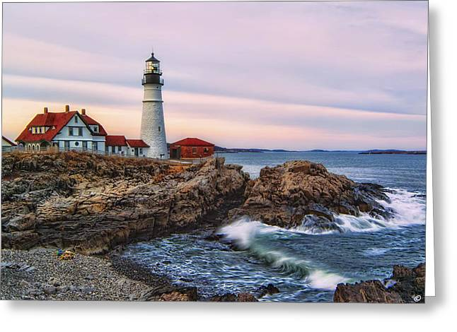 Recently Sold -  - Coastal Maine Greeting Cards - The Evening Lo How Bright Greeting Card by Richard Bean