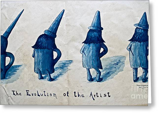 Ink Drawing Photographs Greeting Cards - The Evolution of the Artist Greeting Card by Gwyn Newcombe