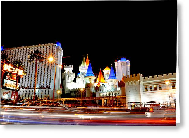 Tropicana Las Vegas Greeting Cards - The Excalibur  Greeting Card by Art K