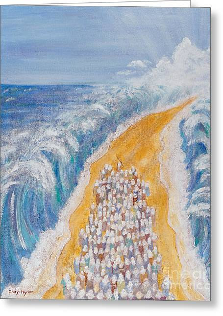 Slavery Paintings Greeting Cards - The Exodus Greeting Card by Cheryl Hymes