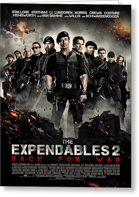 Movie Poster Gallery Greeting Cards - The Expendables 2  Greeting Card by Movie Poster Prints