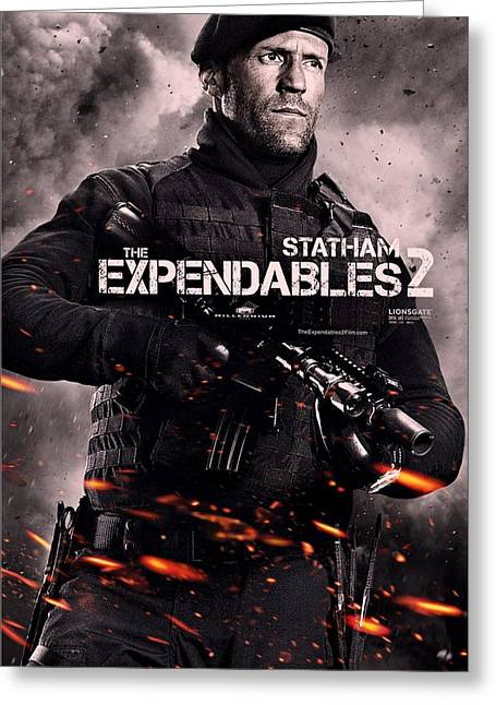 Movie Poster Gallery Greeting Cards - The Expendables 2 Statham Greeting Card by Movie Poster Prints