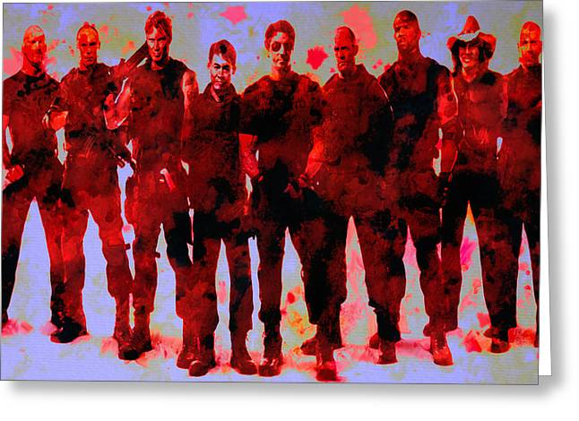Mickey Rourke Greeting Cards - The Expendables Greeting Card by Brian Reaves