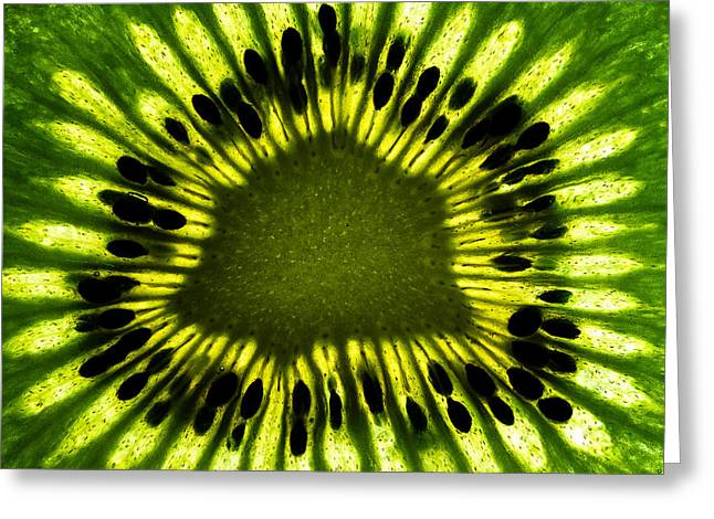 Fruits Photographs Greeting Cards - The Eye Greeting Card by Gert Lavsen