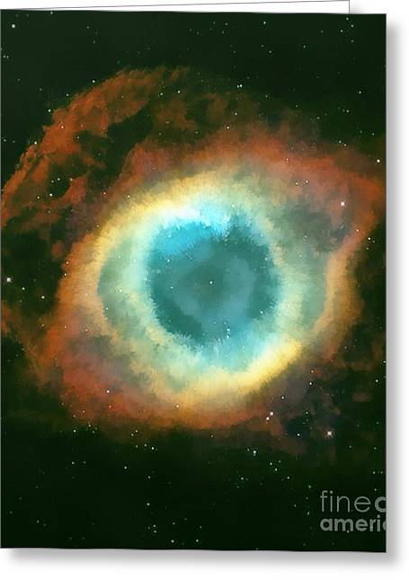 Helix Paintings Greeting Cards - The eye Greeting Card by Odon Czintos