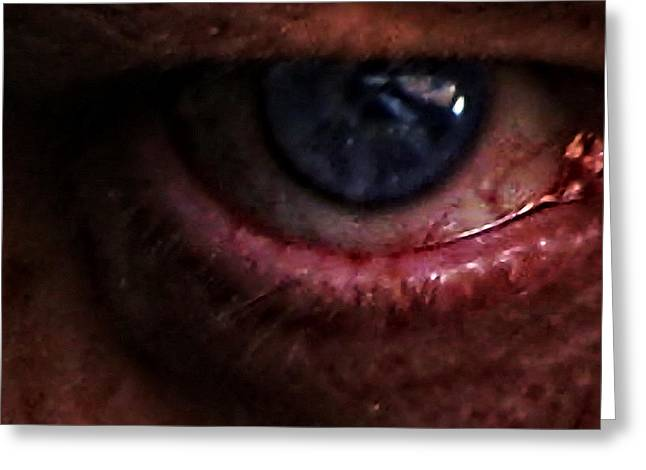 Self-portrait Greeting Cards - The Eye Of Mordor Greeting Card by Nafets Nuarb