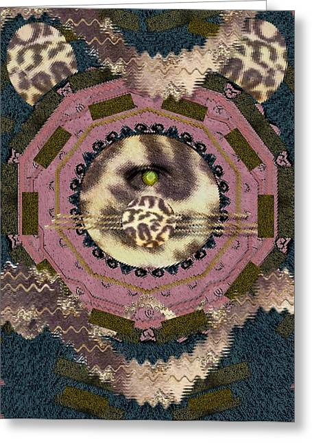 Fur Balls Greeting Cards - The Eye Of The Hidden Tiger Greeting Card by Pepita Selles