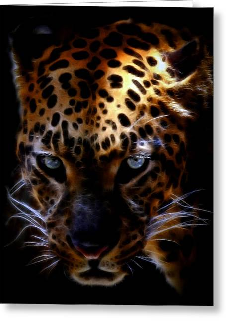 Bobcats Greeting Cards - The Eye of the Leopard  Greeting Card by Athena Mckinzie