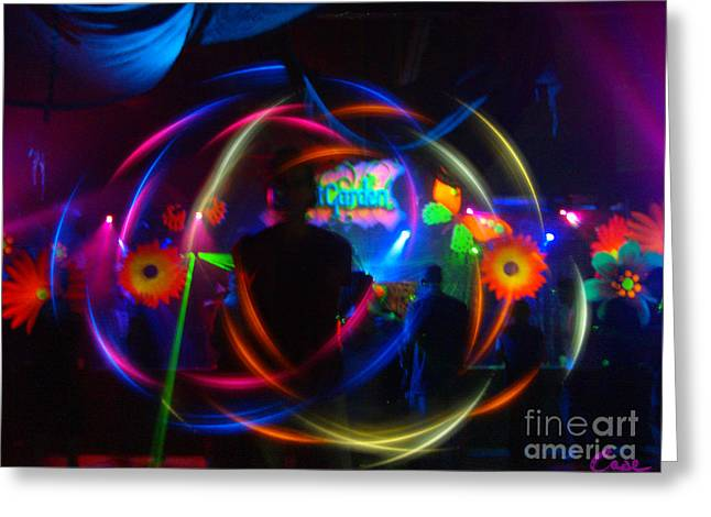 Dance Of Joy Greeting Cards - The EYE of The RAVE Greeting Card by Feile Case