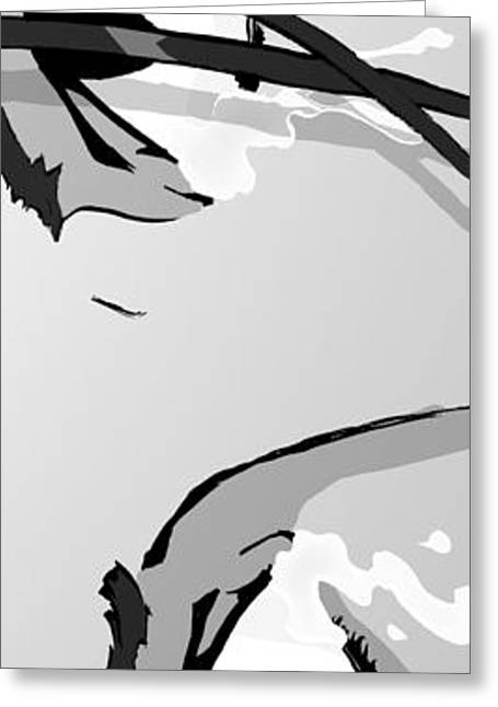 Bedroom Art Greeting Cards - The Eyes - Black And White Greeting Card by Hanan Evyasaf