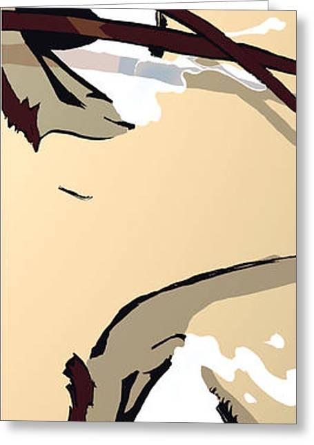 Bedroom Art Greeting Cards - The Eyes - Dark Brown Greeting Card by Hanan Evyasaf