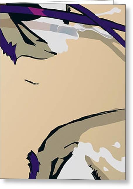 Bedroom Art Greeting Cards - The Eyes - Dark Purple Greeting Card by Hanan Evyasaf