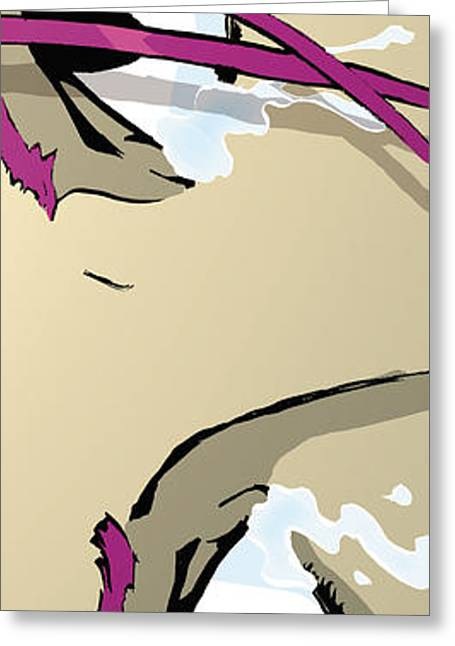 Bedroom Art Greeting Cards - The Eyes - Pink Greeting Card by Hanan Evyasaf