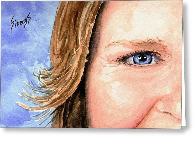The Eyes Have It - Sherry Greeting Card by Sam Sidders