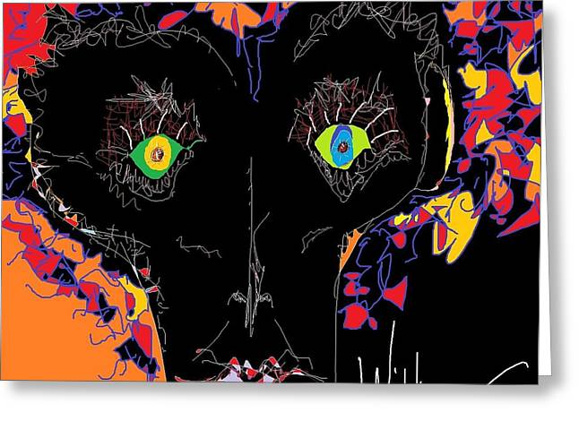 Face Sculptures Greeting Cards - The Eyes Have It Greeting Card by Willie Anicic