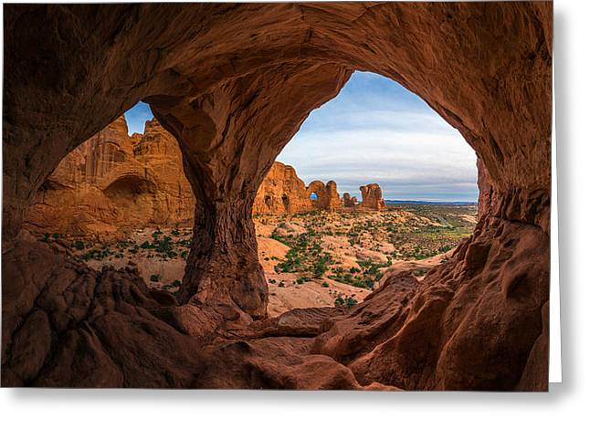 Southern Utah Greeting Cards - The Eyes of the Mountain Greeting Card by Dustin  LeFevre