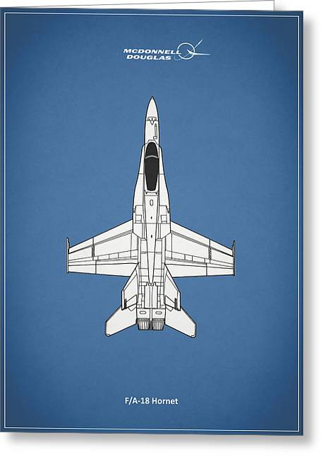 The F-18 Hornet Greeting Card by Mark Rogan