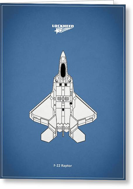 Airplane Greeting Cards - The F-22 Raptor Greeting Card by Mark Rogan