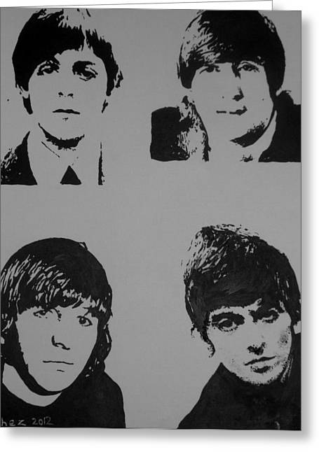 George Harrison Images Greeting Cards - The Fab Four Greeting Card by Cherise Foster