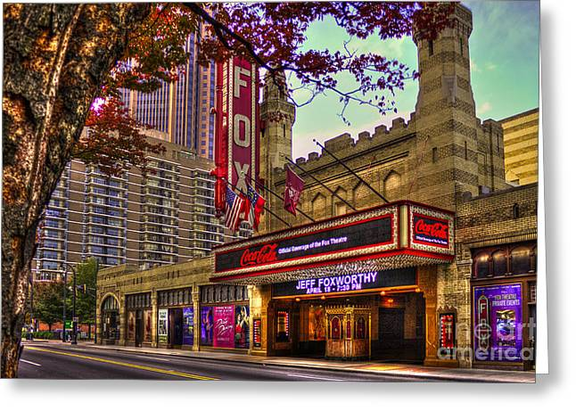 Egyptian Theatre Greeting Cards - The Fabulous FOX Theatre Atlanta Georgia Greeting Card by Reid Callaway