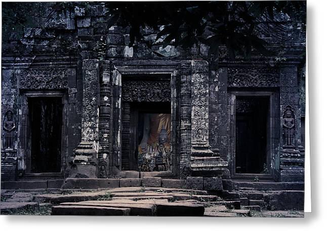 Nawarat Namphon Photographs Greeting Cards - The facade of sanctuary Greeting Card by Nawarat Namphon
