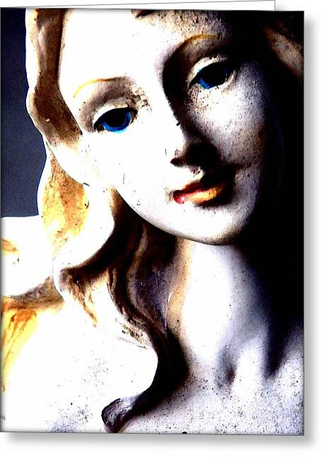 Statue Portrait Greeting Cards - The Face of a Woman Greeting Card by Faith Williams
