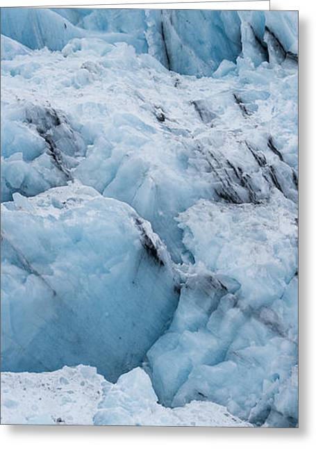 Bryn Mawr Greeting Cards - The Face of Bryn Mawr Glacier Vertical Greeting Card by Ted Raynor