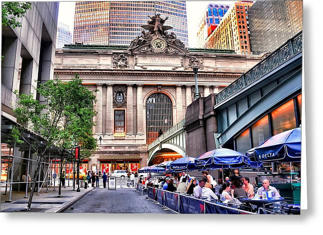 Al Central Greeting Cards - The Face of Grand Central Terminal Greeting Card by Diana Angstadt
