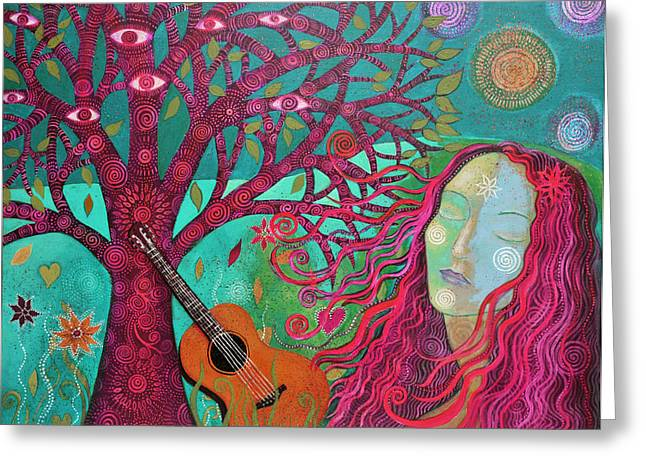 Empowerment Greeting Cards - The Face of Peace Greeting Card by Alice Mason