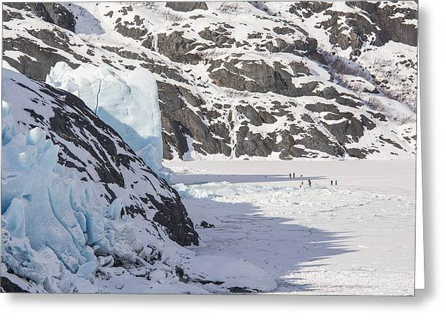 The Face Of Portage Glacier Greeting Card by Tim Grams