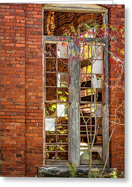 Autumn Prints Greeting Cards - The Factory Door 2 Greeting Card by Steve Harrington