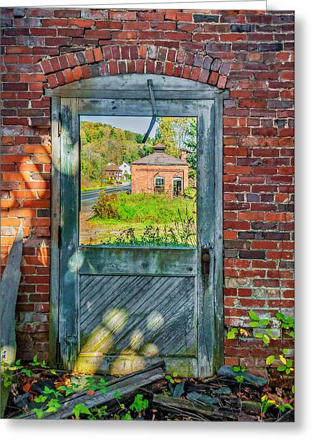 Autumn Prints Greeting Cards - The Factory Door Greeting Card by Steve Harrington