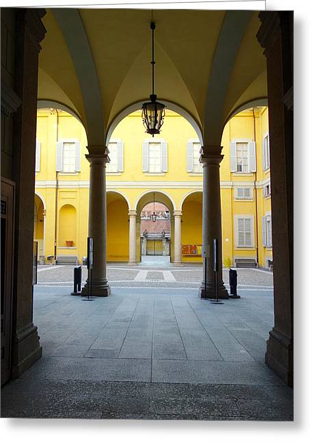 Faculty Entrance Greeting Cards - The Faculty Greeting Card by Valentino Visentini