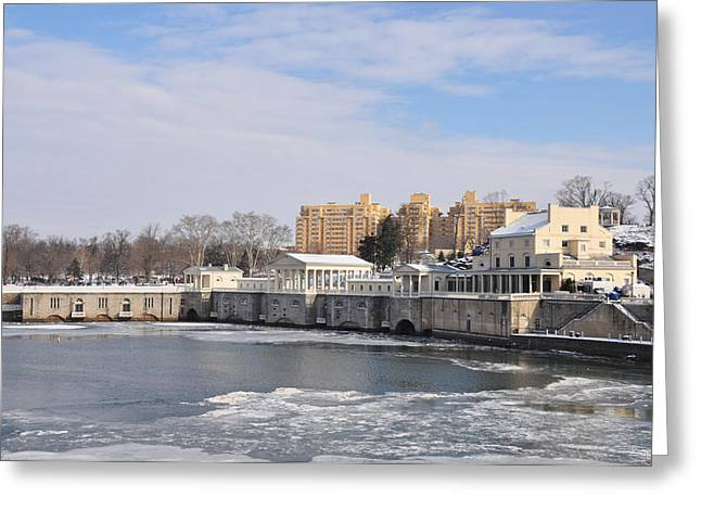 Phila Greeting Cards - The Fairmount Waterworks in Winter Greeting Card by Bill Cannon