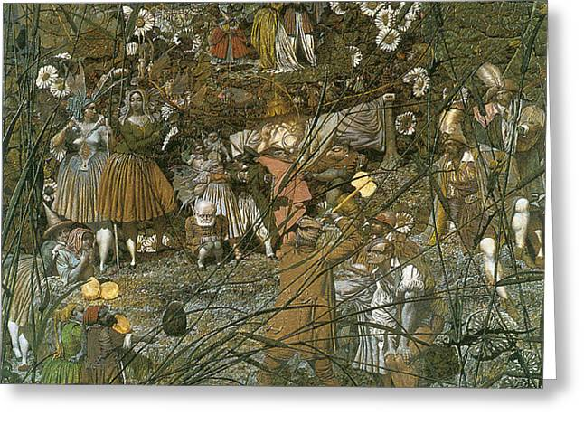 The Fairy Feller Master Stroke Greeting Card by Richard Dadd