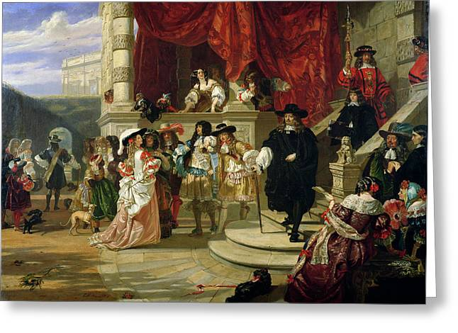 Opulence Greeting Cards - The Fall Of Edward Hyde , 1st Earl Greeting Card by Edward Matthew Ward