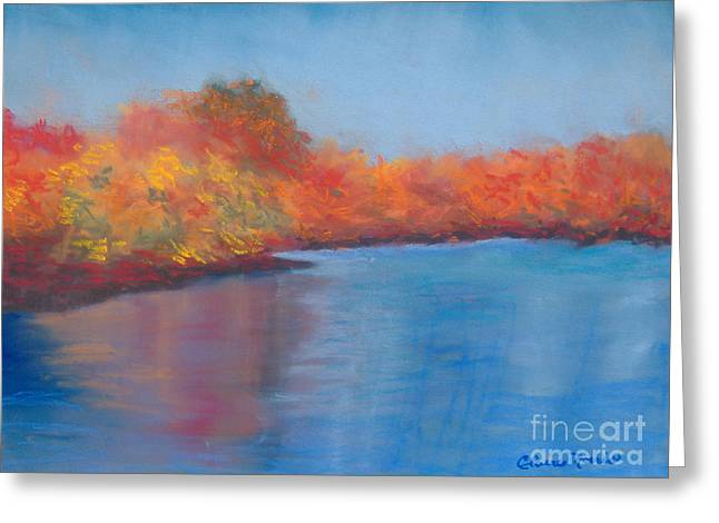 New England. Pastels Greeting Cards - The Fall - One Greeting Card by Claire Norris