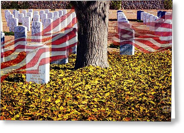 Half Staff Greeting Cards - The Fallen Greeting Card by Barbara Chichester